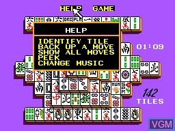 Menu screen of the game Shanghai on Sega Master System