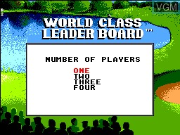 Menu screen of the game World Class Leaderboard on Sega Master System