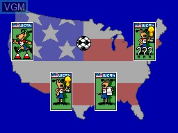 Menu screen of the game World Cup '94 on Sega Master System