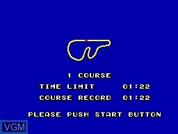Menu screen of the game World Grand Prix on Sega Master System