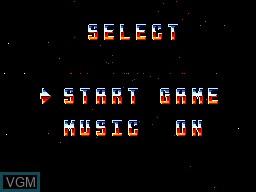 Menu screen of the game Xenon 2 on Sega Master System