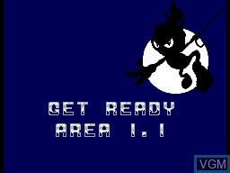 Menu screen of the game Zool on Sega Master System