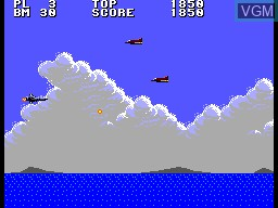 In-game screen of the game Aerial Assault on Sega Master System