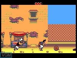 In-game screen of the game Aladdin on Sega Master System