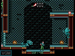 In-game screen of the game Alien 3 on Sega Master System