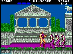 In-game screen of the game Altered Beast on Sega Master System