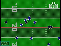 In-game screen of the game American Pro Football on Sega Master System