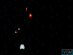 In-game screen of the game Astro Warrior on Sega Master System