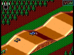 In-game screen of the game Buggy Run on Sega Master System