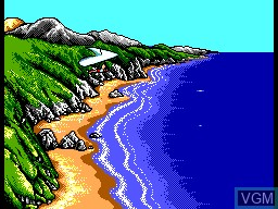 In-game screen of the game Jogos de Verao II on Sega Master System