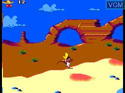 In-game screen of the game Cheese Cat-astrophe on Sega Master System