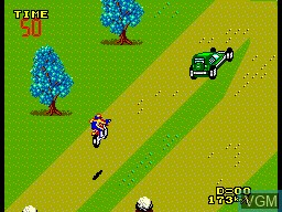 In-game screen of the game Enduro Racer on Sega Master System