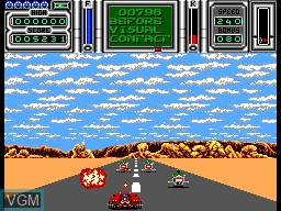 In-game screen of the game Fire & Forget 2 on Sega Master System