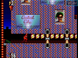 In-game screen of the game Flash, The on Sega Master System