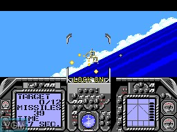 In-game screen of the game G-Loc Air Battle on Sega Master System