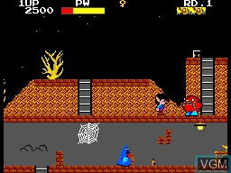 In-game screen of the game Ghost House on Sega Master System