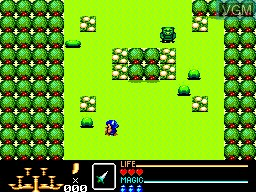 In-game screen of the game Golden Axe Warrior on Sega Master System