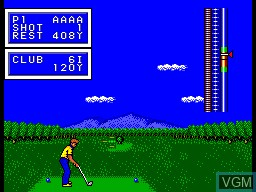 In-game screen of the game Golf Mania on Sega Master System