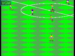 In-game screen of the game FIFA International Soccer on Sega Master System