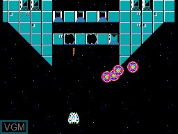 In-game screen of the game Hang-On & Astro Warrior on Sega Master System