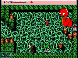 In-game screen of the game Golvellius - Valley of Doom on Sega Master System