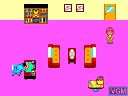 In-game screen of the game High School! Kimengumi on Sega Master System