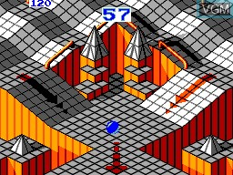 In-game screen of the game Marble Madness on Sega Master System