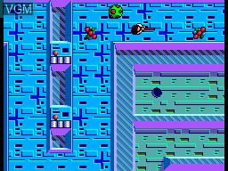 In-game screen of the game Maze Hunter 3D on Sega Master System