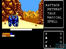 In-game screen of the game Miracle Warriors - Seal of the Dark Lord on Sega Master System