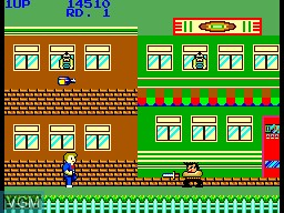 In-game screen of the game My Hero on Sega Master System