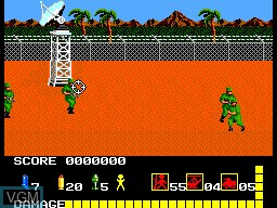 In-game screen of the game Operation Wolf on Sega Master System