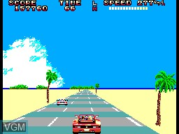 In-game screen of the game OutRun on Sega Master System