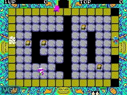 In-game screen of the game Fushigi no Oshiro Pit Pot on Sega Master System