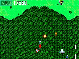 In-game screen of the game Power Strike on Sega Master System