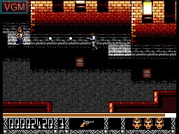 In-game screen of the game Predator 2 on Sega Master System