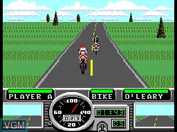 In-game screen of the game Road Rash on Sega Master System