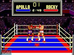 In-game screen of the game Rocky on Sega Master System