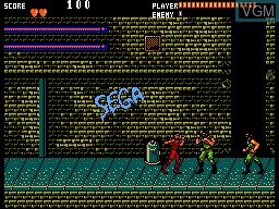 In-game screen of the game Running Battle on Sega Master System