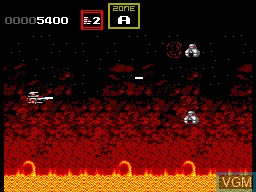 In-game screen of the game Sagaia on Sega Master System