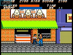In-game screen of the game Vigilante on Sega Master System