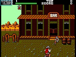 In-game screen of the game Wanted on Sega Master System