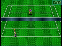 In-game screen of the game Wimbledon on Sega Master System