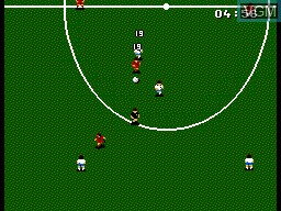 In-game screen of the game World Cup '94 on Sega Master System