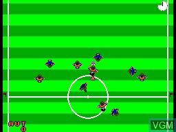 In-game screen of the game World Cup Italia '90 on Sega Master System