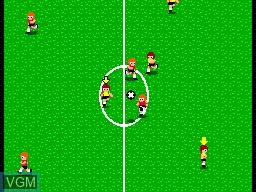 In-game screen of the game World Soccer on Sega Master System