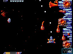 In-game screen of the game Xenon 2 on Sega Master System