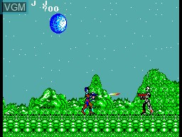 In-game screen of the game Akai Koudan Zillion on Sega Master System