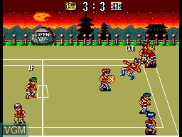 In-game screen of the game Dodgeball King on Sega Master System