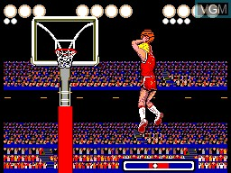 In-game screen of the game Pat Riley Basketball on Sega Master System
