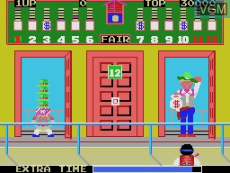 In-game screen of the game Bank Panic on Sega Master System